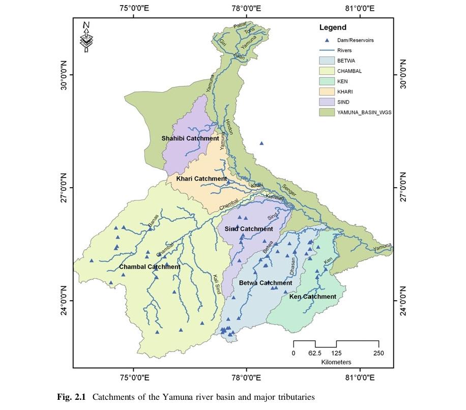 Ganges River System, Map